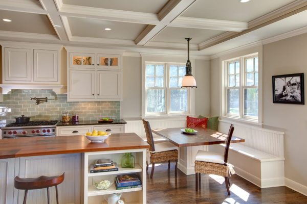austin-corner-banquette-bench-with-cast-iron-casserole-dishes-kitchen-traditional-and-open-shelving-glass-front-cabinets
