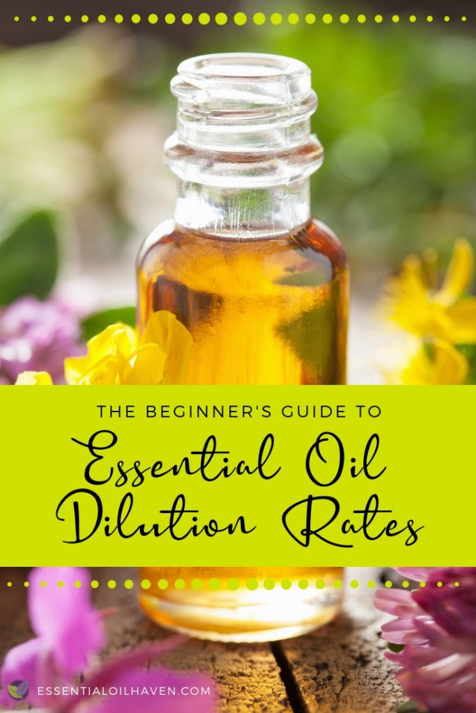essential oils dilution rates guide