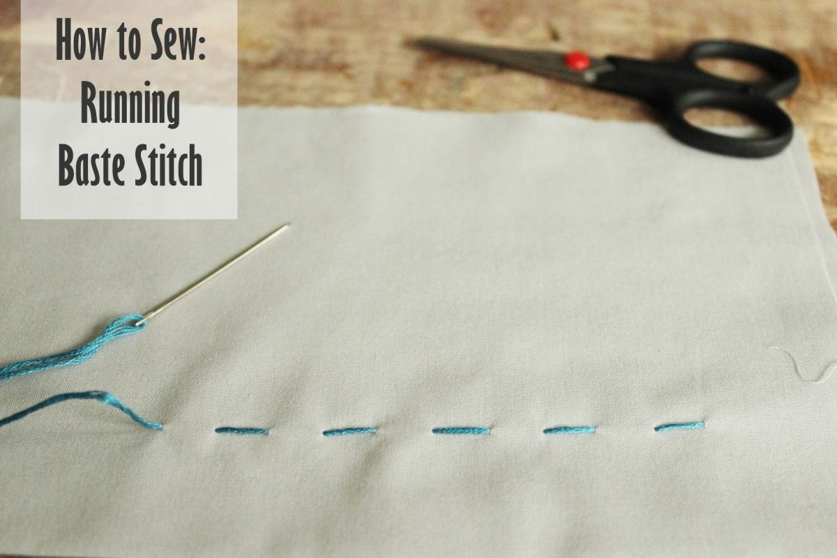 How to Sew- Running Baste Stitch