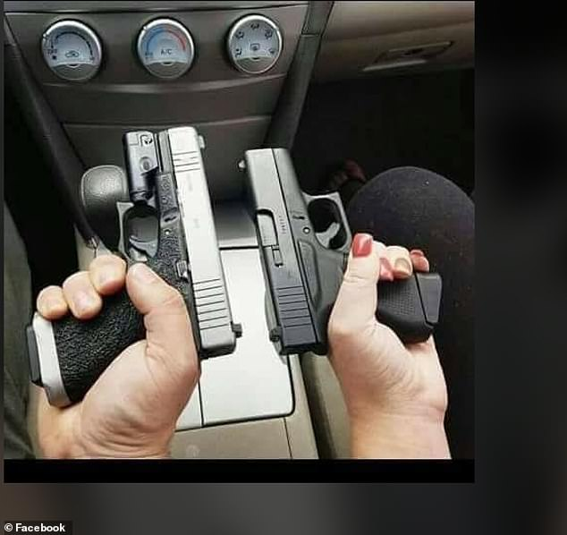 A photo from Facebook shows what appears to be Casillas and his wife holding their guns