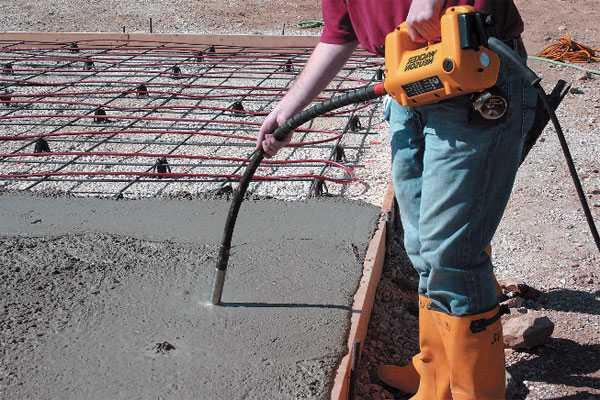 Процесс вибрация бетонной смеси чем проверить бетон